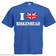 I Love Heart Birkenhead Children's Kids T Shirt