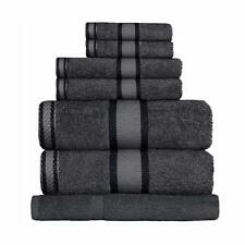 Charcoal Grey 100% Cotton Towel Range Sets or Pcs Bath Sheet Towel Hand Face Mat