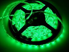 "Green Waterproof 3528 smd LED Light Strips with wires self stick 4"" 8"" 12"" 16"""
