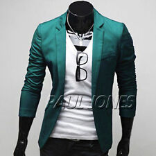2013 New  Mens Slim fit One Button Long Sleeve Suit Blazer Jacket  Casual Coat