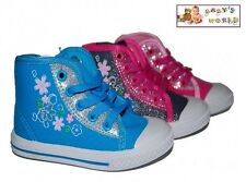 Girls ankle trainers - canvas shoes in 3 colours! NEW with box!