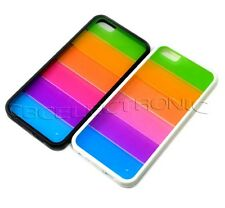 New Colorful Rainbow bumper Rubber frame hard case cover for iphone 5 5s