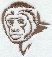 White Bath/Hand/Face Towels embroidered with a Capuchin Monkey Silhouette