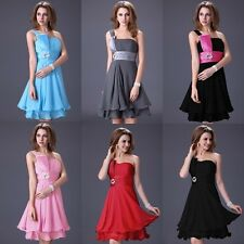 Knee Length Prom Bridesmaids Gown Formal Evening Party Cocktail Ball Dress 2-16
