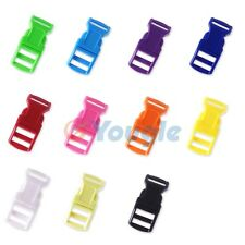 """1/2"""" Colored Contoured Curved Side Release Buckles Webbing Straps For Paracord"""