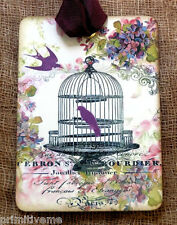 Hang Tags  FRENCH FLORAL BIRD CAGE TAGS or MAGNET #536  Gift Tags