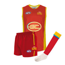 Official AFL Footy Gold Coast Suns Kids Youth Auskick Jumper Shorts Socks