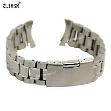 18mm 20mm 22mm or 24mm NEW SOLID STAINLESS STEEL CURVED END Watch Bands Bracelet