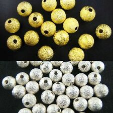 DIY Silver/Gold Plated Round Spacer Loose Beads Charms Findings 3/4/6/8/10mm