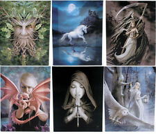 ANNE STOKES CANVAS WALL PLAQUES ~ FANTASY,GOTHIC,MYSTICAL,UNICORN~IDEAL GIFT