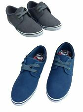 Pod Pontoon Canvas Shoes, laces. Older boys/girls, grey or blue, Trainer