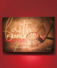 Faith Family Friends SPORTS Wall Art Decor IN STOCK Game Room Man Cave Plaque