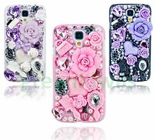 3D Bling Luxury Flowers Fairy-Tale Diamond Case for Samsung Galaxy S4 SIV i9500