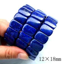100% Natural Lapis Lazuli Oval Beads Stretch Bracelet 12mm×18mm,11mm×16mm