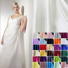 "1 Meter 16 MM 100% Pure Silk Charmeuse Satin Fabric Clothing Sewing 45"" Wide"
