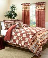CHRISTMAS TREE QUILT COMFORTER PILLOW SHAM AUTUMN FALL LEAF BEAR COUNTRY CABIN