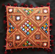 """Indian (kutchi)Handicrafts Vintage Traditional Cushion Cover 12"""" X 12""""/16"""" X 16"""""""