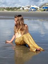 The Golden Mermaid Custom Boutique Tail and Bikini Top Set Girls/Toddlers