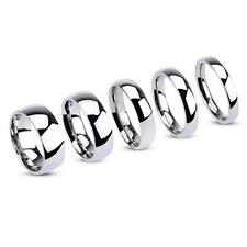 Stainless Steel 3mm - 8mm Wide Mirror Polish Wedding Band Ring Sizes I - Z+3