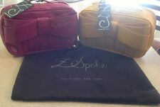 Z Spoke Zac Posen Shirley Bow Toiletry Make Up Bag, New with tags