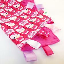 HELLO KITTY Baby Security Blanket Toy + FREE Dummy/Taggie/Sophie Saver