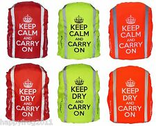 WATERPROOF CYGLOVE Hi-Vis Reflective Hump Rain Rucksack Backpack Cover Cycling