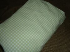 CIRCO GREEN OR KOALA BABY PINK GINGHAM CRIB FITTED SHEET PRE-OWNED 100% COTTON