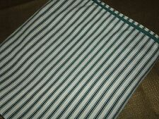 BLUE TAN TICKING TWIN FITTED OR TWIN, RED OR QUEEN GREEN FLAT SHEET STRIPE BLEND