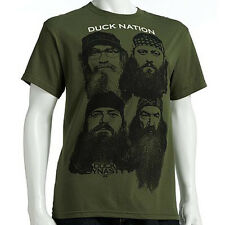 DUCK DYNASTY Quack Pack GREEN SHIRT COMMANDER Tee JASE Willie UNCLE SI Phil
