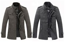Hot new Mens Wool Coats Jacket Parka Slim Winter Trench Overcoat Outerwear M-3XL