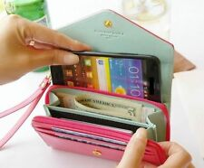 woman crown smart pouch coin purse clutch wallet case skin suit for iphone 5 4s