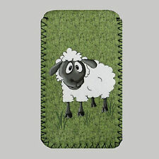 Grass, Sheep  PHONE CASE POUCH Fits Samsung Galaxy s2, s3, s3mini,s4 & s4mini