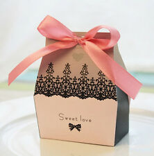 20 Sweet Love Pink Paper Jewelry Package Present Gift Box Case Xmas
