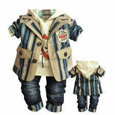 3pcs/set Suit+hoody+jeans baby boy clothes casual boys suit clothing outfits