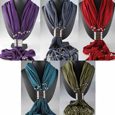 Pendant Jewellery The soft  infinit Scarf  jewelry with Beads,5 colour available