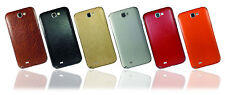 Leather Effect Skin For SAMSUNG GALAXY NOTE 2 II Wrap Cover Sticker Case