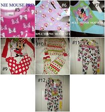 * NWT NEW GIRLS Disney Minnie Mouse OR Daisy Duck WINTER PAJAMAS SET 18M 2T 3T 4