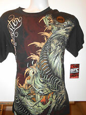 New SINISTER AFFLICTION DRAGON TATTOO BLACK SHORT SLEEVE Mens T-shirt L XL 2XL