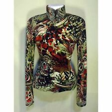 13105 Wire Horse LTD. Ladies Red Black Green Peacock Pleasure/Rail Shirt NEW!