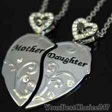 Mother Daughter Heart Pendent Necklace Mothers Day Gift  Xmas Charm Birthday