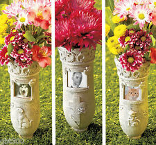 Memorial Vase Stake w/Photo Frame IN STOCK Yard Garden Cemetery Grave Marker Pet