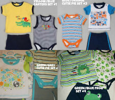 * NWT NEW BOYS CARTERS CUTIE PIE 3PC SUMMER OUTFIT SET 0/3M 3/6M 6/9M