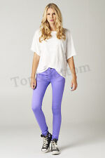 Women's Stretch Pencil Candy Sexy Skinny Pants Jeans Trousers Leggings - Lilac