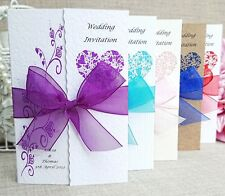 Personalised Handmade Gate fold wedding invitations- Different colours- FREE P+P