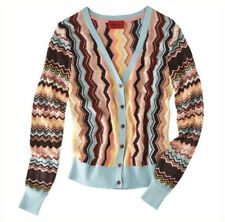 NEW! Missoni Target Sweater Knit Cardigan Blue/Brown/Gold shimmer Colore HOT!