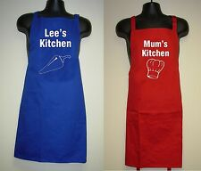 """Adults Personalised Slogan Apron """"(Your Name) Kitchen"""""""