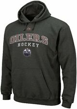 Edmonton Oilers NHL Licensed Majestic Enzyme Charcoal Pullover Hoodie Big Sizes