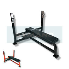 GYMANO™ | PROFESSIONAL FLAT BARBELL BENCH for 7FT OLYMPIC/STANDARD WEIGHT BAR