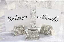 Sparkling Crystal Diamond Wedding Reception ~ Holiday Party Place Card Holders