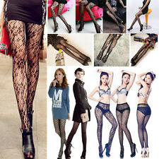 Black Sexy Womens Pattern Jacquard Stretchy Pantyhose Stockings Tights Leggings